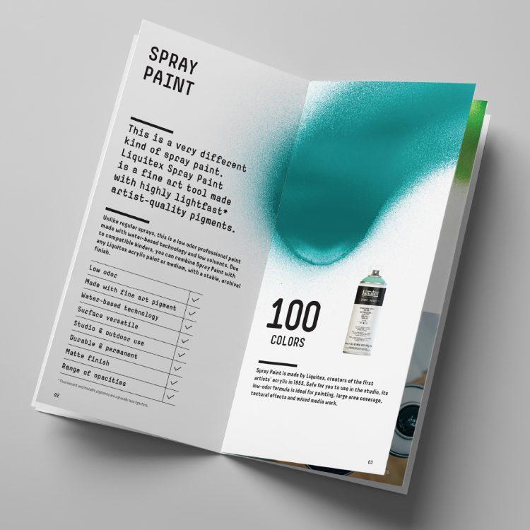 Liquitex Acrylic Spray Paint Product Booklet
