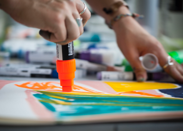 Paint Markers: Liquitex Painting pens in action. Getting the most out of your markers' paint