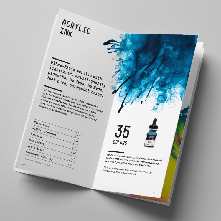 Liquitex Acrylic Ink Product Booklet