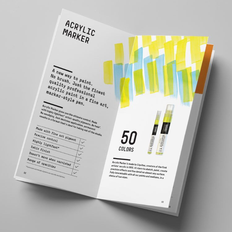 Liquitex Acrylic Marker Product Booklet