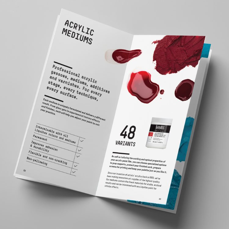 Liquitex Acrylic Mediums Product Booklet